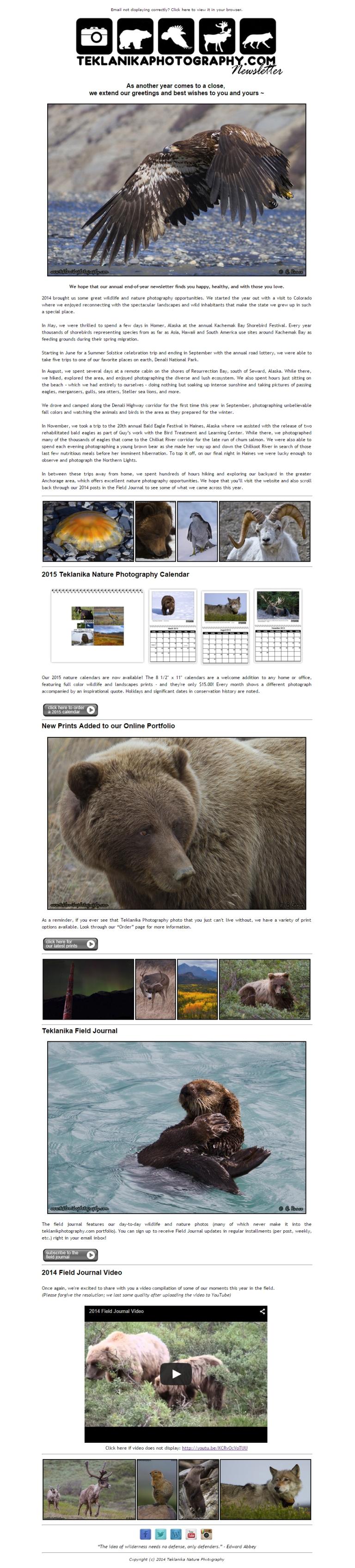 2014 Teklanika Newsletter